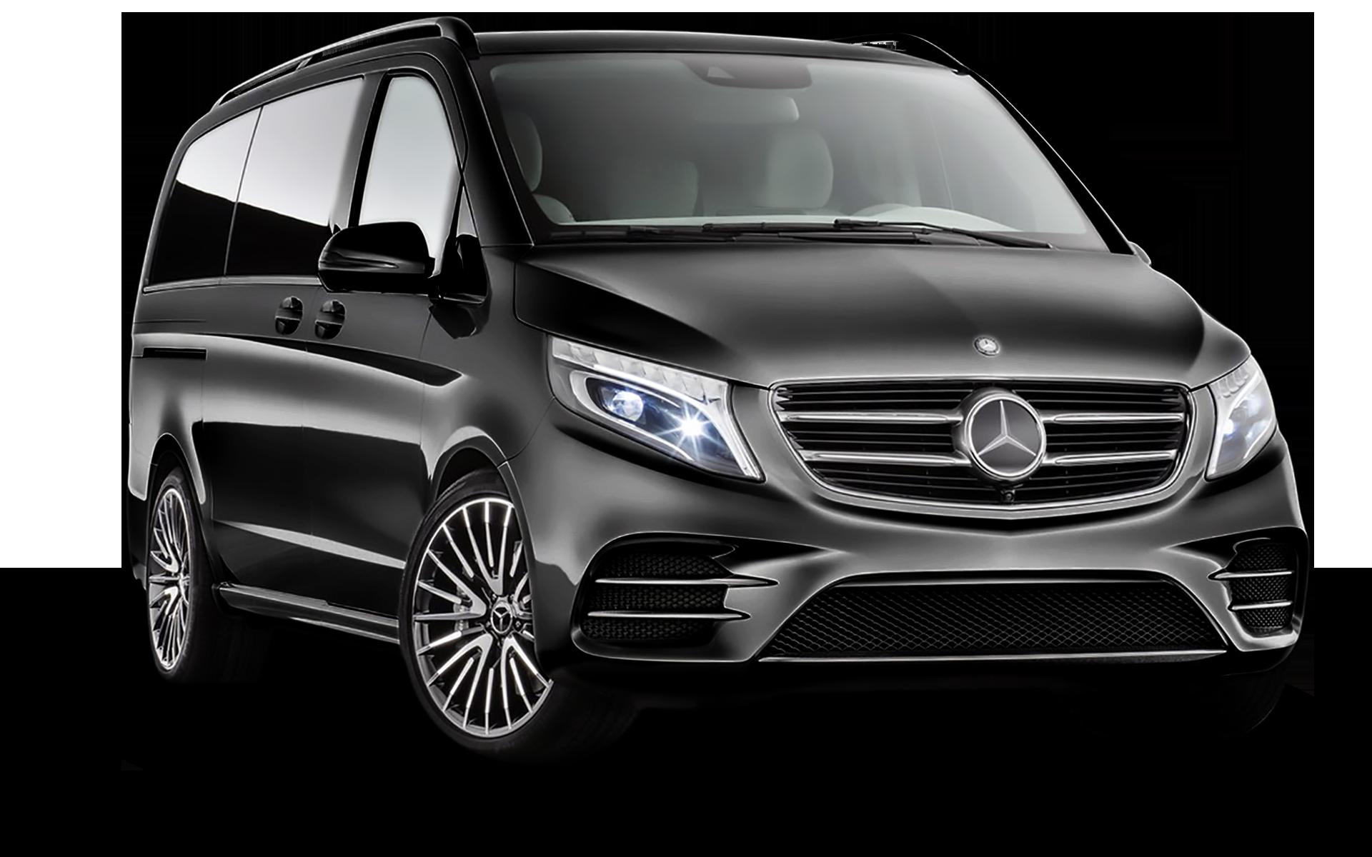 Dit is de Mercedes Viano van Taxi Waregem